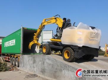 沃尔华集团2台挖掘机出口越南