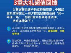 """中国起重机械网庆五一""""买一送一""""三重大礼钜惠不容错过!"""