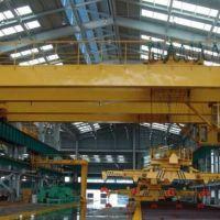 江西九江行车厂家生产销售下旋转伸缩挂梁电磁桥式起重机