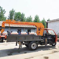 三轮随车吊生产厂家液压控制3吨移树吊价格 三马车背背吊图片