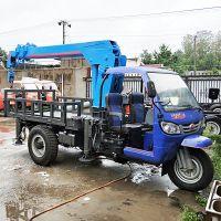 供应多功能自制平板三轮随车吊厂家 3吨三轮移树吊自备吊价格
