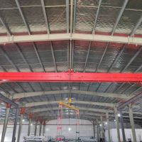 杭州起重设备--金华市LDP型电动单梁起重机安装完成