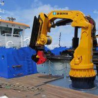 湖北武汉折壁式船用液压起重机—豫正重工集团武汉分公司