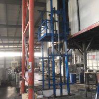 无基础导轨式液压升降货梯安装